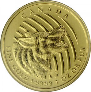 Call of the Wild - Crier au Loup 1oz d'Or fin - 2014