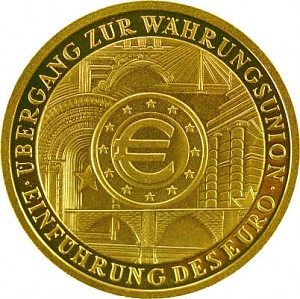 100 Euro allemand 1/2oz d'or fin - 2002 Union Monétaire