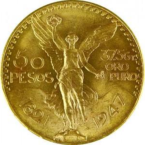 50 Pesos mexicains 37,46g d'or fin
