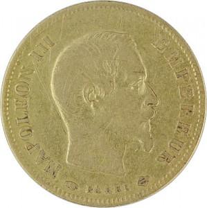 10 Francs français Napoléon III 2,9g d'or fin