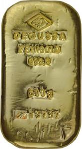 Lingot 500g d'or fin - différents fabricants