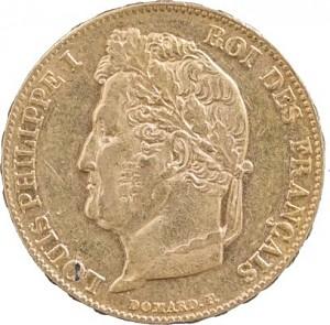 20 Francs français Louis Philippe I 5,81g d'or fin