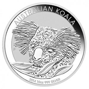 Koala 10oz d'argent fin - 2014