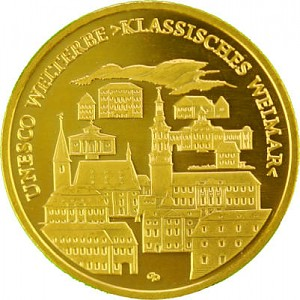 100 Euro allemand 1/2oz d'or fin - 2006 Weimar