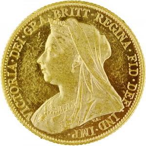 1 Livre anglaise Souverain Victoria différents motifs 7,32g d'or fin