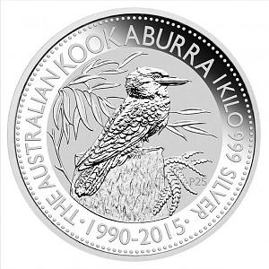 Kookaburra 1kg d'argent fin - 2015
