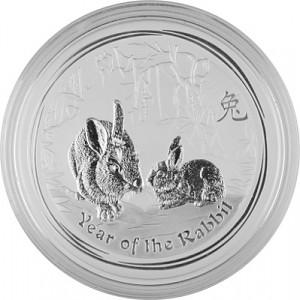 Lunar II Lièvre 1kg  d'argent fin - 2011