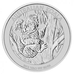 Koala 1kg d'argent fin - 2013