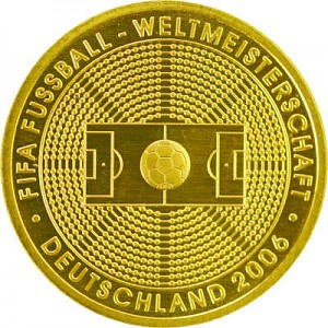 100 Euro allemand 1/2oz d'or fin - 2005 Coupe du Monde de Football
