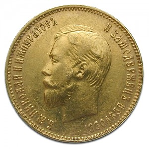 10 Roubles Nikolaus II 7,74g d'or fin