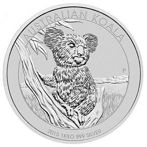 Koala 1kg d'argent fin - 2015