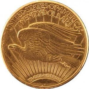 20 Dollar américaín Double Eagle Saint-Gaudens 30,48g d'or fin