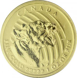 Call of the Wild - Cougar Rugissant 1oz d'Or fin - 2015
