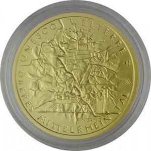 100 Euro allemand 1/2oz d'or fin - 2015 Oberes Mittelrheintal