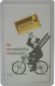 Lingot 2,5g d'or fin - Umicore 'Félicitations'