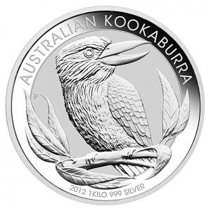 Kookaburra 1kg d'argent fin - 2012