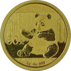 Chine Panda 3g d'or fin - 2017
