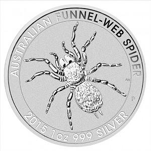 Australie Funnel Web Spider (Entonnoir web spider) 1oz d'argent fin - 2015