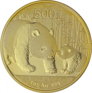 Chine Panda 1oz d'or fin - 2011