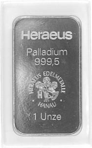Lingot 1oz de palladium (TVA normale)