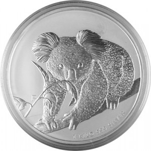 Koala 1kg d'argent fin - 2010