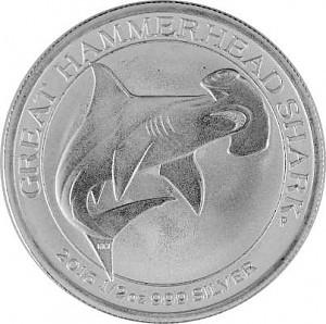 Grand Requin-marteau 1/2oz d'argent fin - 2015
