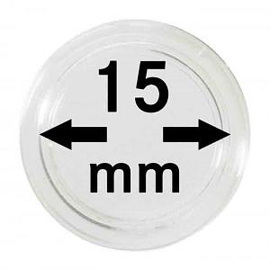 Capsules pour monnaies 15mm, 1 pièce