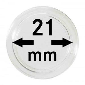 Capsules pour monnaies 21mm, 1 pièce