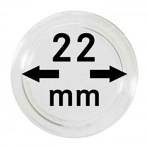 Capsules pour monnaies 22mm, 1 pièce