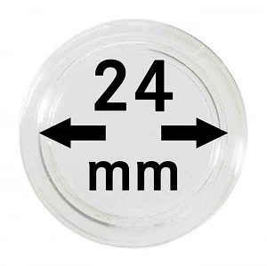 Capsules pour monnaies 24mm, 1 pièce