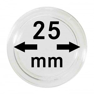 Capsules pour monnaies 25mm, 1 pièce