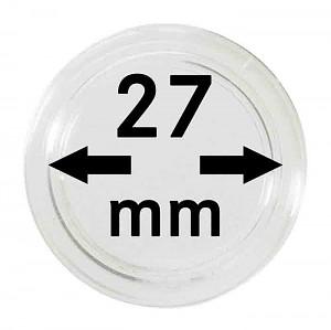 Capsules pour monnaies 27mm, 1 pièce