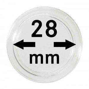 Capsules pour monnaies 28mm, 1 pièce