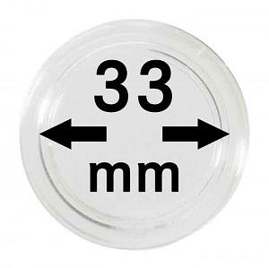 Capsules pour monnaies 33mm, 1 pièce