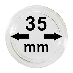 Capsules pour monnaies 35mm, 1 pièce