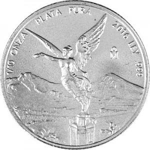 Libertad mexicain 1/10oz d'argent fin
