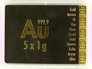 Lingot - CombiBar 5g (5x 1g) d'or fin