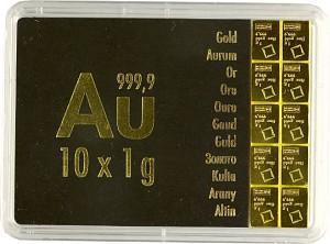 Lingot - CombiBar 10g (10x 1g) d'or fin